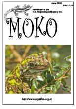 Cover image of Moko, journal of The New Zealand Herpetological Society Inc.